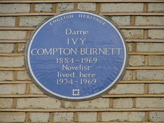 Photo of Ivy Compton-Burnett blue plaque