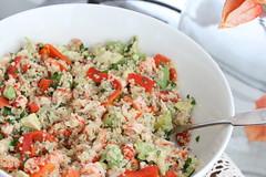 Quinoa salad with crayfish tails, avocado & roasted tomatoes / & lobster tail salad / Kinoa-vhisabasalat (Pille - Nami-nami) Tags: food recipe salad recipes salads naminami retseptid retsept