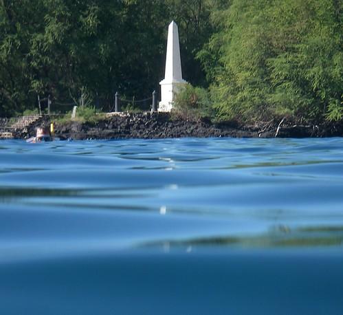 Captain Cook Monument at Kealakekua Bay