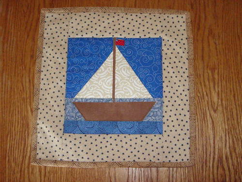 sailboat potholder