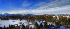 Tabor (Sareni) Tags: trees houses winter light shadow sky panorama house snow tree colors clouds buildings nikon shadows view pano branches si hill slovenia tabor slovenija february frommywindow zima mb hdr highdynamicrange maribor 2010 twop sneg d60 nikond60 sareni