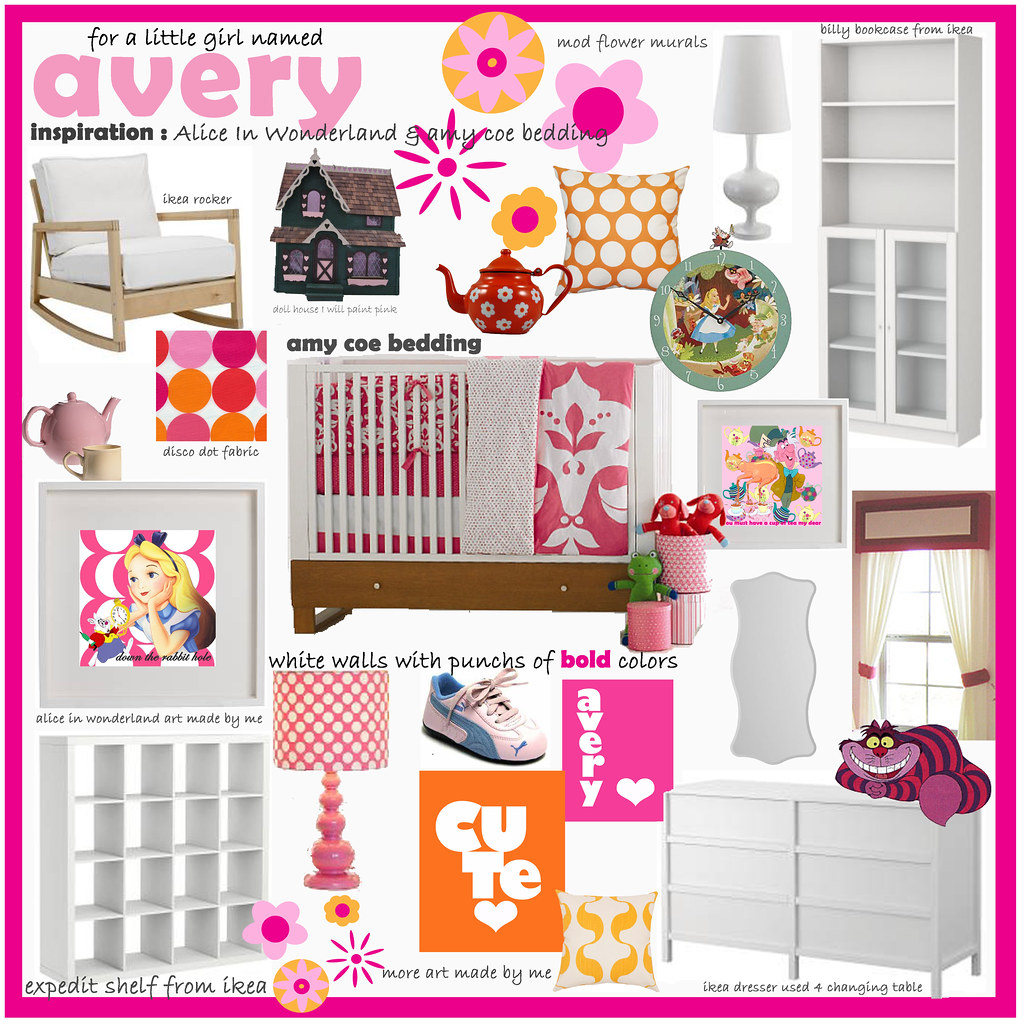 Modern Alice in Wonderland Nursery {plan 2}