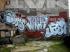 Bvrs, Jaut, Jast graffiti - San Francisco, Ca (EndlessCanvas.com) Tags: graffiti san francisco throw jast jaut throwie bvrs