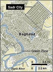 location of Sadr City (by: US National Geospatial-Intelligence Agency)