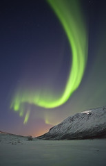 Aurora Borealis, Kattfjordeidet (antonyspencer) Tags: lake snow mountains green ice norway night circle stars landscape lights frozen arctic aurora fjord colourful spencer northern antony borealis tromso troms troms