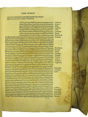 Title incipit in Caesar, Gaius Julius: Commentarii
