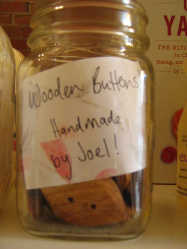 wooden buttons handmade by Joel