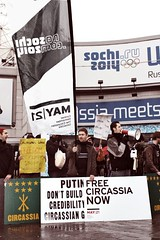 """""""No Olympic Genocide"""" (No Sochi 2014 Committee) Tags: olympics sochi sochi2014 sochiolympics"""