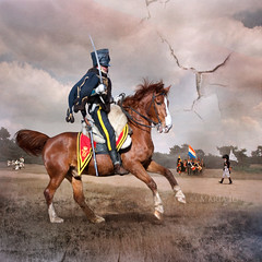Napoleon Revisited (okkibox) Tags: people horse netherlands cheval napoleon soldiers archeon cavalry 2010 highlanders alphenadrijn alliedforces pentaxk10d okkibox boxofhappymemories magiayfotografia 2eregimentinfanterievanlinie 7ebataljoninfanterievanlinie