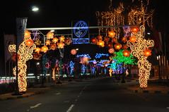 Al ahmadi City  at midnight (DeNaLio - ( wolf^pac)) Tags: city light night al nikon view kuwait q8 ahmadi kwt    kuw    d300s