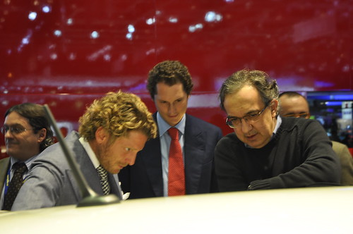 John Elkann, Sergio Marchionne, Fiat @ Geneva Motorshow 2010