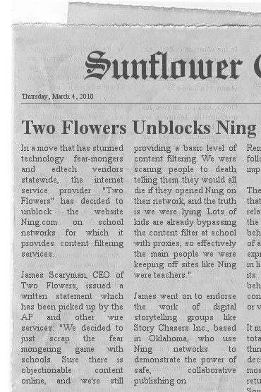 Two Flowers Unblocks Ning