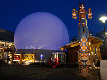 Aboriginal Pavilion by night
