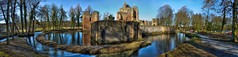 As i walked along the castle walls (A&M - Photography) Tags: bridge panorama tower castle wall kanaal brug slot hdr gracht muur kasteel beverwijk uitgeest
