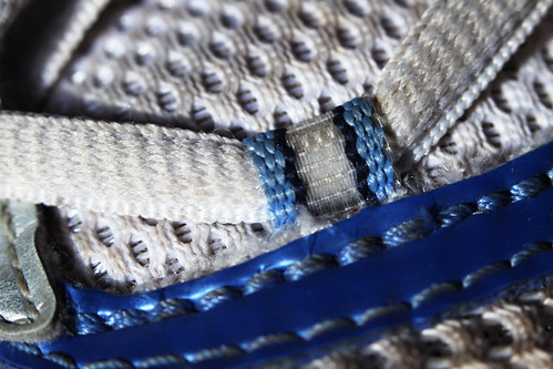 Shoe lace on a sneaker