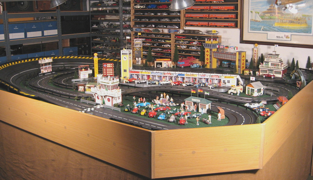 Slot Car Marshall Hut Large Scenery Track Side Display 1:32 Scale