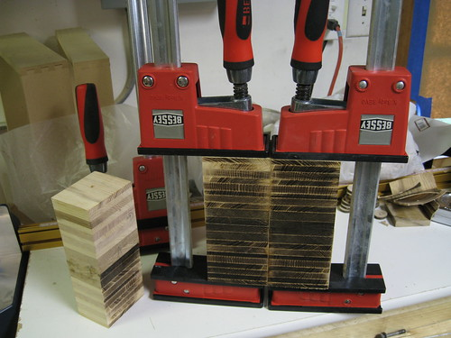 Bessey K-Body clamps joining up butcher block pieces