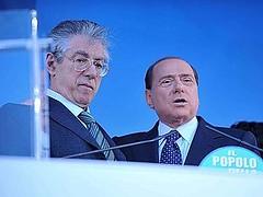 Bossi e Berlusconi festeggiano il successo elettorale