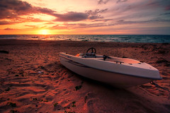 stranded (Dennis_F) Tags: sardegna italien sunset sea sky italy sun beach water colors clouds strand landscape island boot boat spring sand meer wasser italia waves sardinia sonnenuntergang sundown angle sony wide himmel wolke wolken sigma wideangle dslr sonne 1020 stranded ultra sardinien farben 2010 frhling wellen uwa ultrawideangle sigmalens a700 sigma1020 uww schnellboot sardenga gestrandet sonyalpha sonydslr alpha700 sonya700 sonyalpha700 dslra700 sigma1020456 sigmaobjektiv
