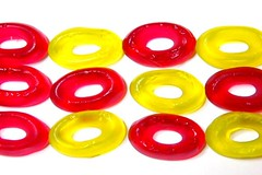 sweet rings (Kumatora) Tags: red yellow circle circles ring grape gummy