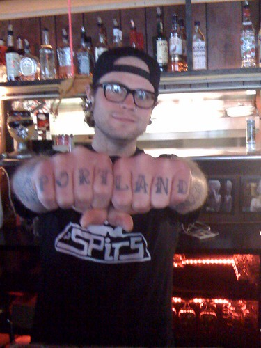 Portland Tattoo: John, bartender @ Plan B Bar