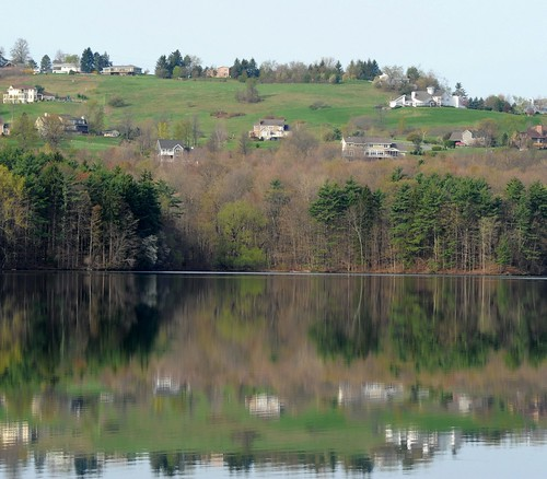 Reflection off the Tomhannock Reservoir, Pittstown, NY