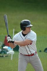 Matt Johnston at bat