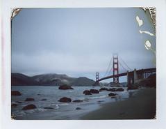 Golden gate bridge (-Alberto_) Tags: polaroid goldengate sanfrancisco seascape fujfp100