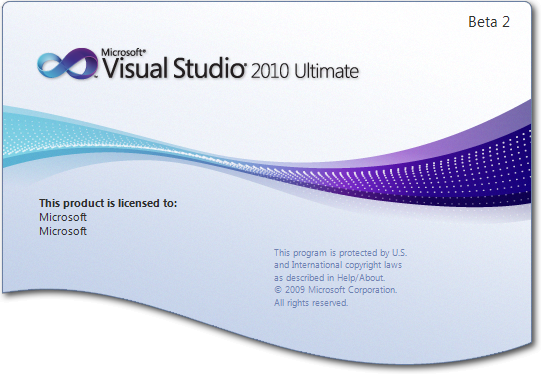 Visual Studio 2010 Ultimate Beta 2 Splash Screen