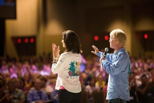 Brig & Lita Addressing the People