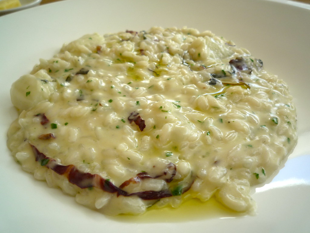 Risotto of fennel, radicchio and gorgonzola