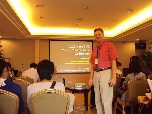Prior to my presentation in Hangzhou, China by Wesley Fryer, on Flickr