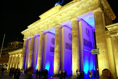 The Brandenburg Gate in Berlin (Tobi_2008) Tags: berlin germany deutschland searchthebest brandenburger allemagne soe germania bej festival gate anawesomeshot diamondclassphotographer flickrdiamond tor brandenburg lights