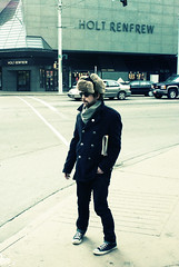 intersection of hipster and holt (teh hack) Tags: street bridge people urban mike hat sunglasses fur person photography photo xpro downtown edmonton cross candid acid hipster cap converse chuck processed taylors