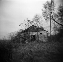 this old house (windybug) Tags: old blackandwhite bw building abandoned film rural mediumfo