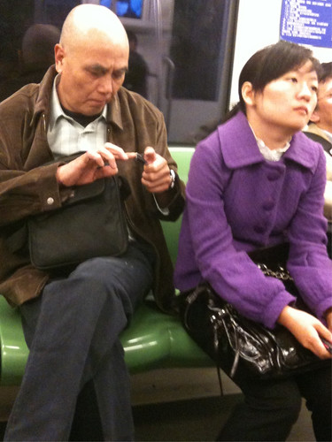 Man clipping fingernails on metro (part 2)