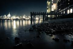 Pacifying (Che-burashka) Tags: city urban london night river evening long exposure cityscape stones citylife stpaul southbank slowshutterspeed thethames lx3 urbanlyric shallowtide gettyskn gettyskngroup welcomeuk