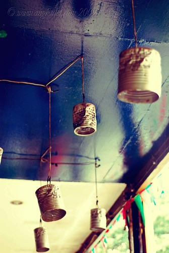 Home made tin can lamps