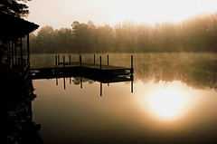 Misty morning reflections (bdaryle) Tags: morning mist lake reflection nature water silhouette landscape dock sony superaplus aplusphoto brandondaryle bdaryle imagesbybrandon