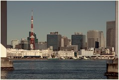 Tokyo Tower skyline (Manuel.A.69) Tags: city bridge urban japan skyline port train landscape tokyo