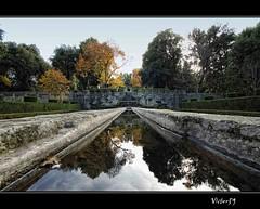 Villa Lante (sirVictor59) Tags: italy reflection nature nikon italia colore nikond70 acqua pietra autunno riflessi fontana viterbo lazio riflesso 10mm cardinale villalante bagnaia peperino altolazio sirvictor59