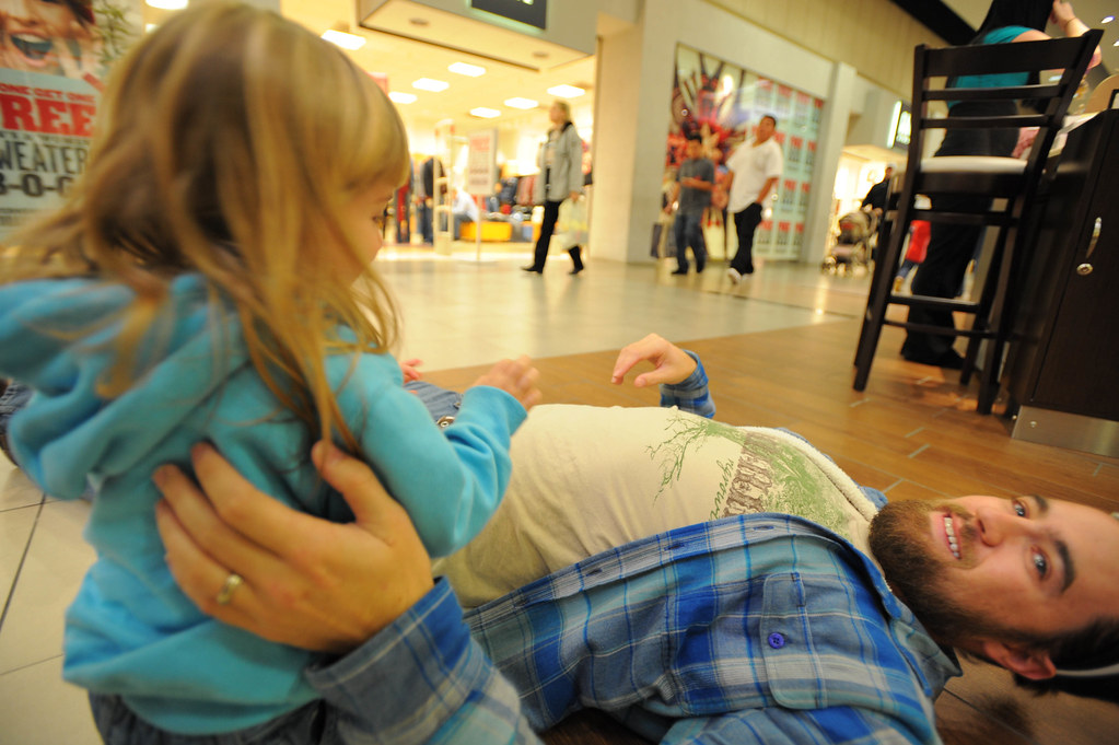 We All Fall Down. On The Floor. In The Mall.
