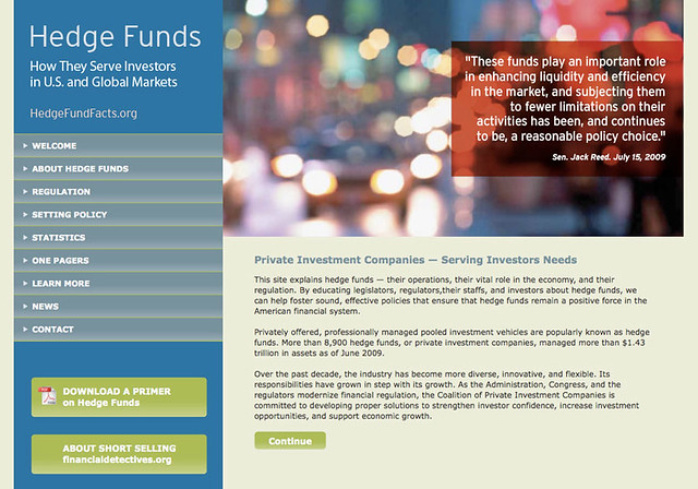 hedgefundfacts.org Web site design