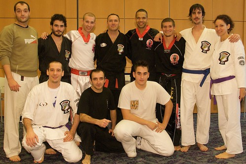 Juan Luis Verde y sus alumnos