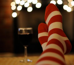 (jljjld) Tags: christmas socks wine bokeh 2009 hbweve