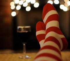 (jljjld) Tags: christmas socks wine bokeh 2009 hbweve