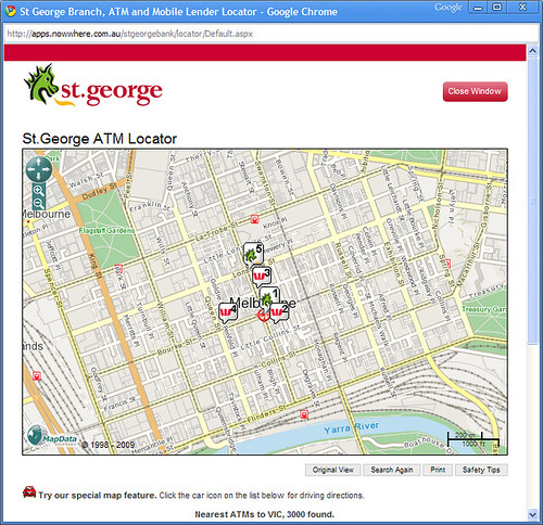 St George ATM locator