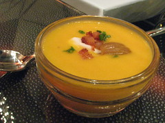 Butternut Squash Soup with Chestnuts & Pecans