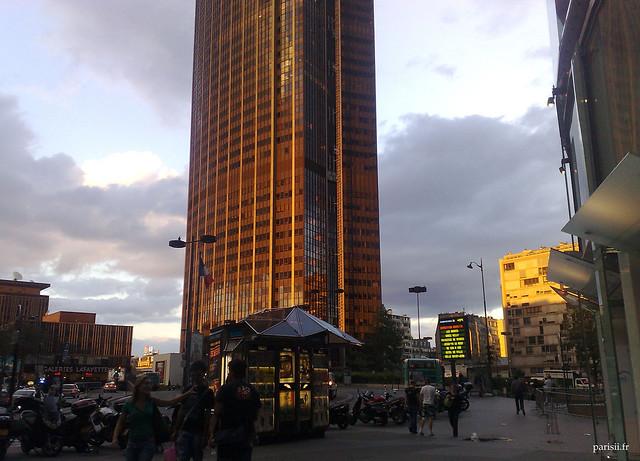 Coucher de soleil sur la Tour Montparnasse