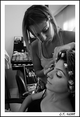 getting ready for the moment 3 (chakyll) Tags: wedding blackandwhite bw bride nikon boda makeup dn gelin d40 makyaj